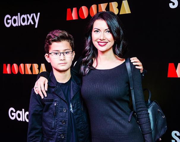 С сыном Оскаром