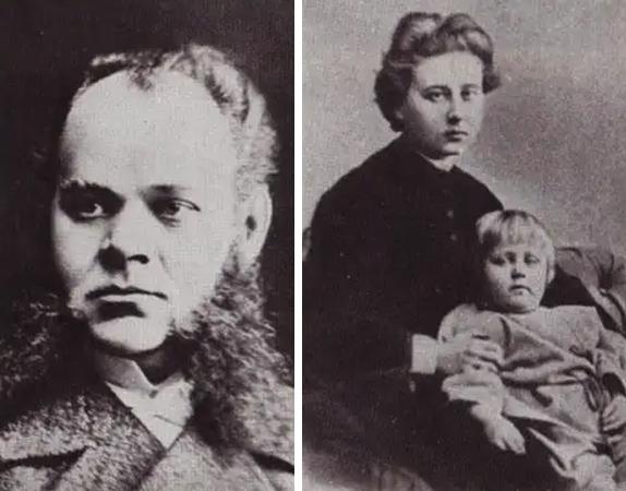 Родители — Александр Максимович и Елена Оттобальдовна (с Максимилианом на руках)