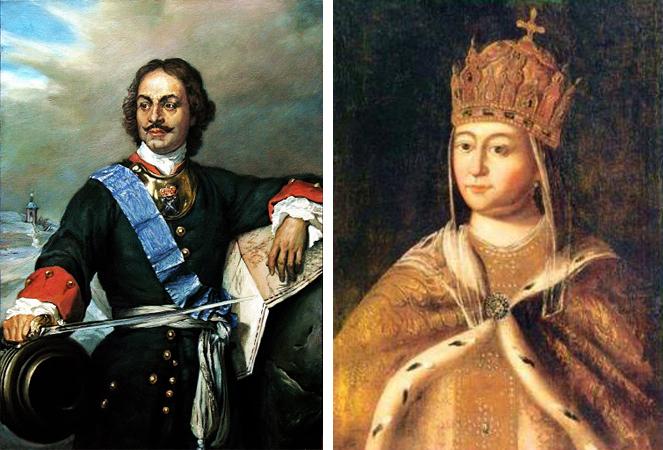 Родители — Петр I и Евдокия Лопухина