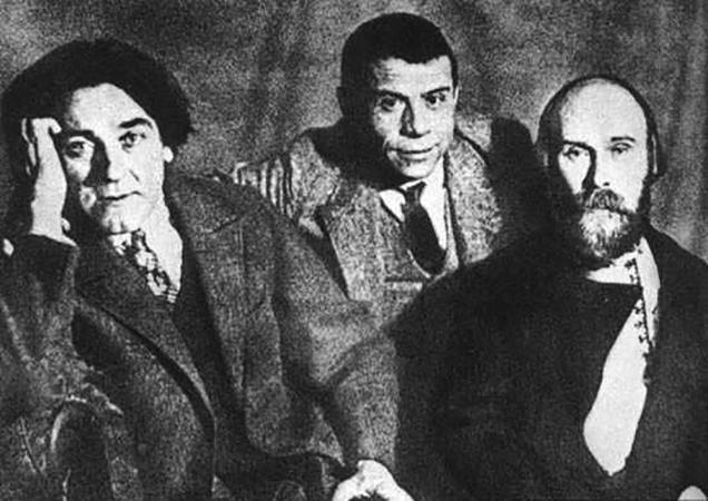 С. Клычков, П. Орешин, Н. Клюев (1929)