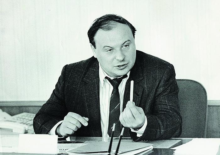 Егор Гайдар во время работы в правительстве