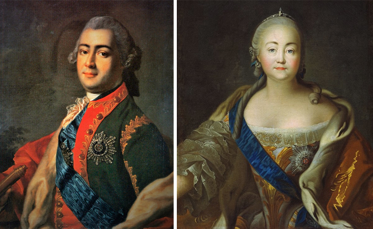 Алексей Разумовский и Елизавета Петровна