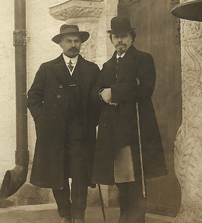 М.В. Нестеров и А.В. Щусев (Москва, 1911)