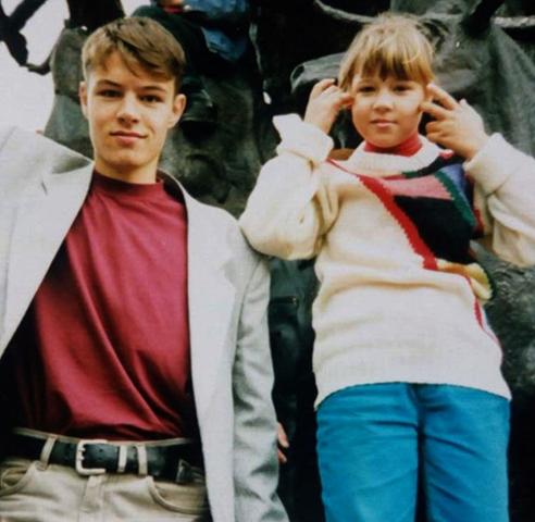 С сестрой Ириной в юности