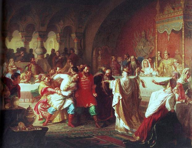 София Витовтовна на свадьбе великого Василия Темного (картина 1861)