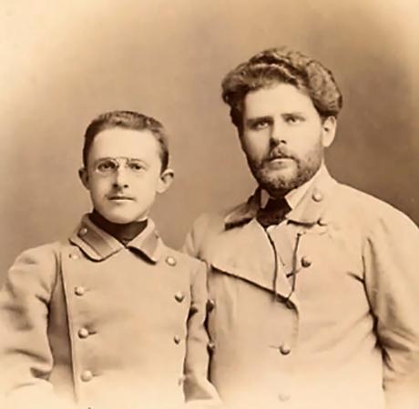 М. П. Свободин и М. А. Волошин(Феодосия, 1899)
