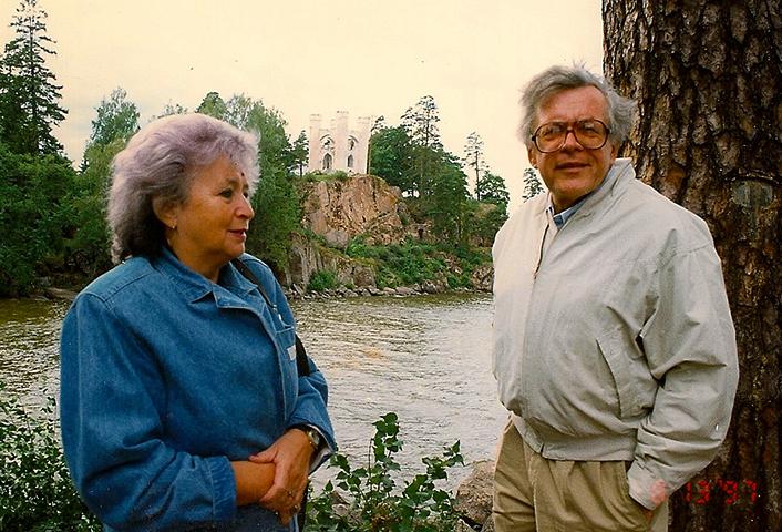 С женой Наталией