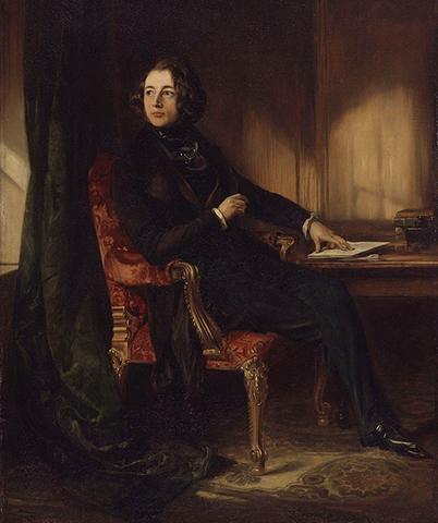 Молодой Чарльз Диккенс (портрет 1839)