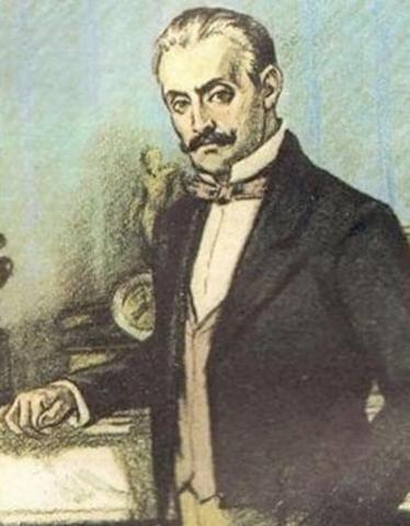 Павел Кирсанов в молодости