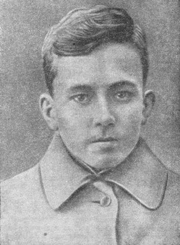 Николай Островский в 1918 г.