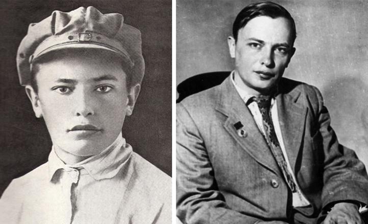 Аркадий Кулешов в юности и молодости