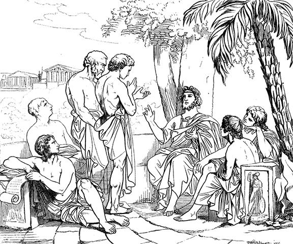 Академия Платона (картина Карла Йохана Валбома)
