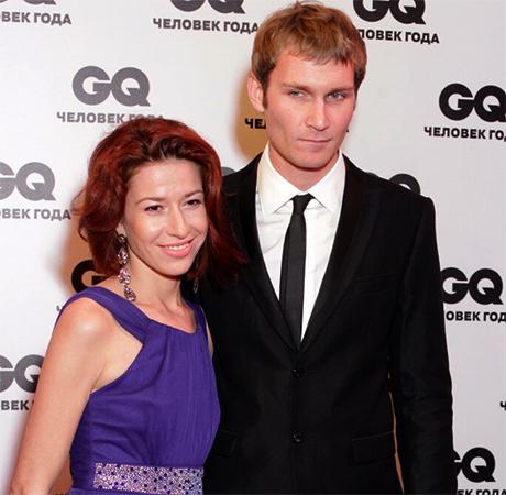 С женой Альбиной