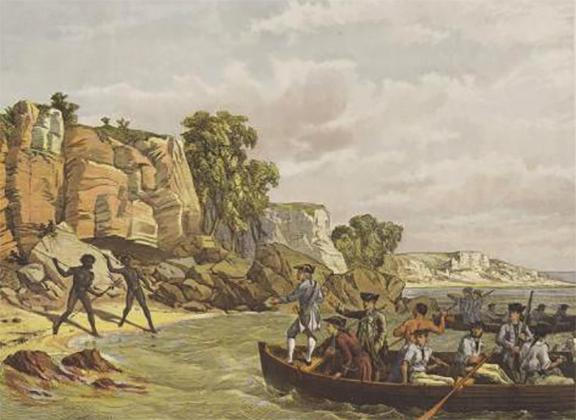 Высадка Кука в заливе Ботани в 1770 году