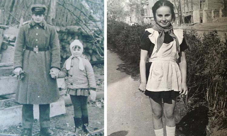 Ирина Апексимова в детстве (слева с братом)