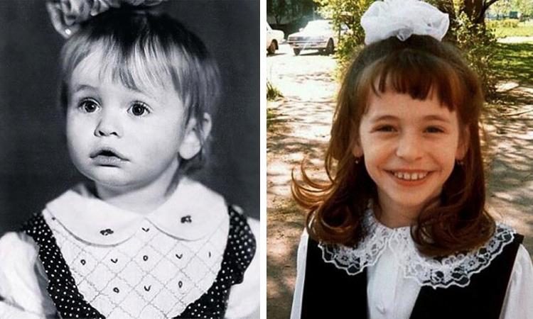 Анна Хилькевич в детстве