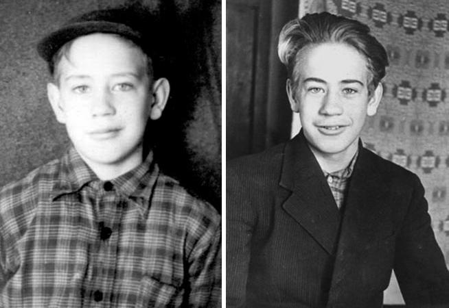 Владислав Крапивин в детстве