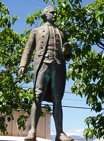 Статуя Джеймса Кука на о. Кауаи