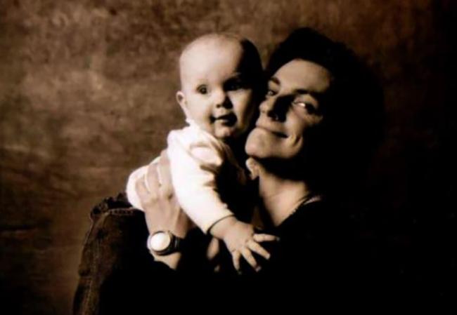 С сыном Даниилом