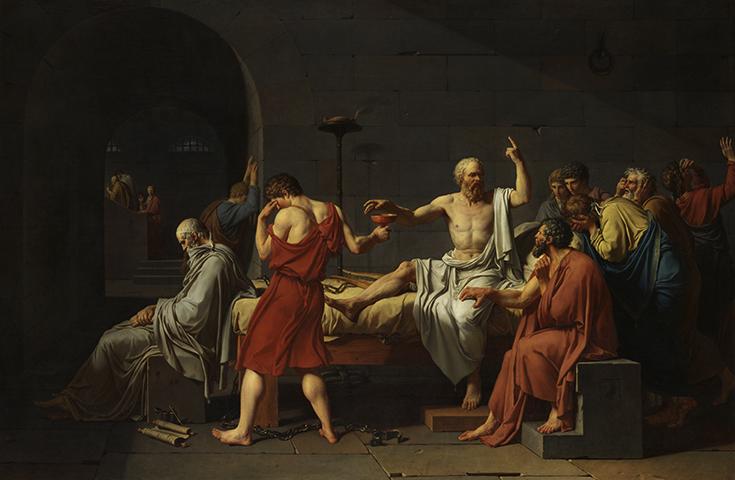 Смерть Сократа (1787), худ. Жак Луи Давид