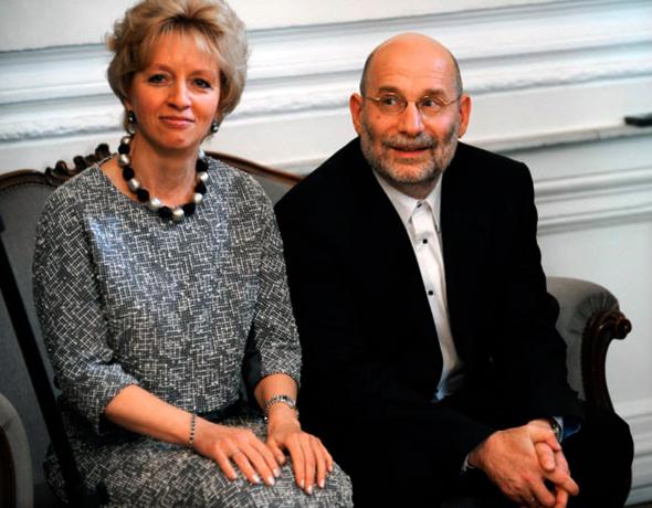 С женой Эрикой