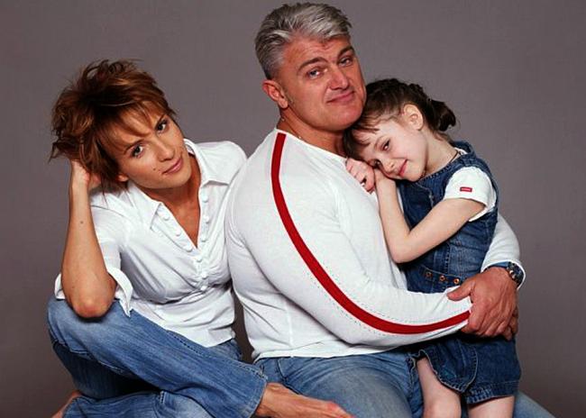 С женой Ириной и дочерью Ксенией