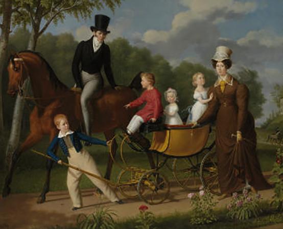 А.Н.Воронихин  с женой Марией Фёдоровной и с детьми
