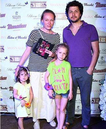С Павлом Сафоновым и детьми