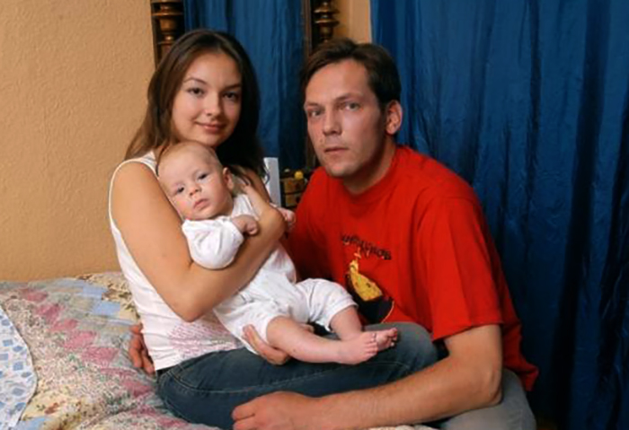 С первым мужем Дмитрием и сыном Прохором