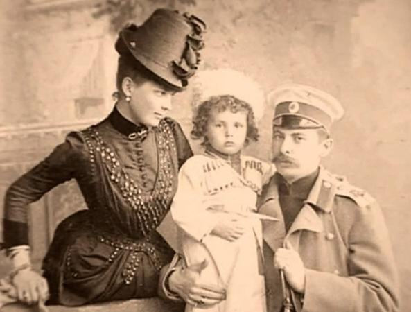 С мужем и первым сыном Николаем