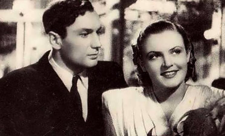 Иван Переверзев и Надежда Чередниченко в фильме «Первая перчатка» (1946)