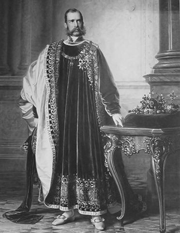 Франц Иосиф I. Картина Эдуарда фон Энгерта (1861 г.)