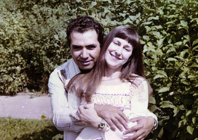 С мужем в молодости