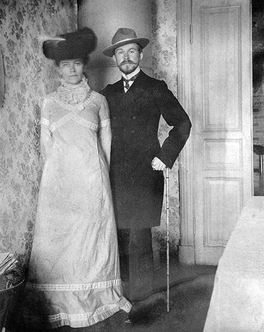 С женой Юлией (1903)