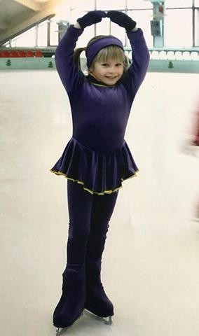 Юлия Липницкая в детстве на льду