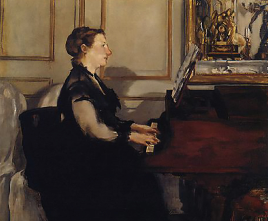 «Мадам Мане за роялем» (1868)