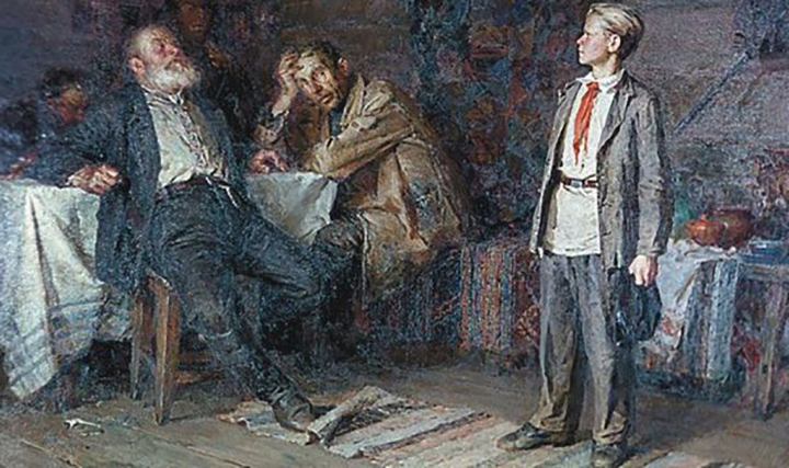 Павлик Морозов с родственниками