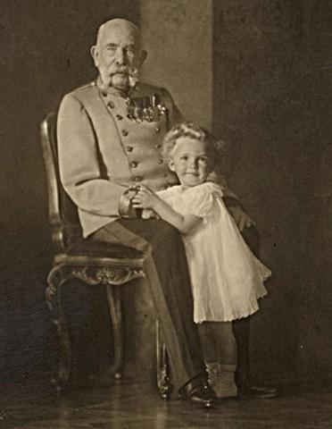 Император и его правнучатый племянник Отто фон Габсбург (1914 г.)