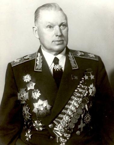 Константин Рокоссовский в старости