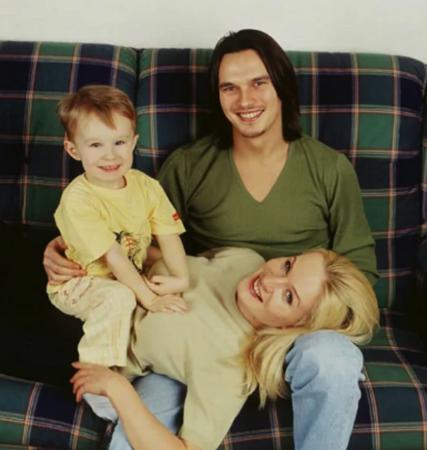 С первой женой Ольгой и сыном Даниилом