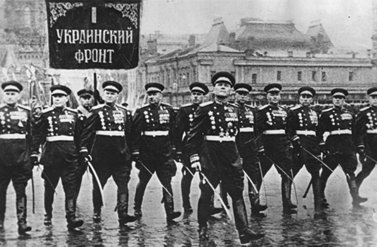 Иван Степанович Конев на параде Победы