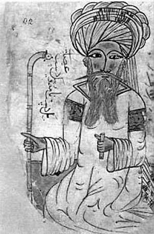 Рисунок Авиценны, изображенный в Дакаик аль-Хакаик (دقائق الحقایق «Степени истины») Насир ад-Дина Раммаля (XIV век)
