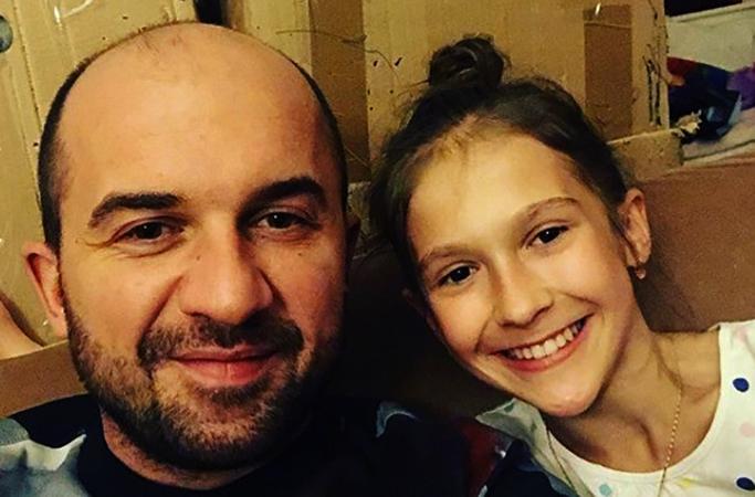 С дочерью Полиной