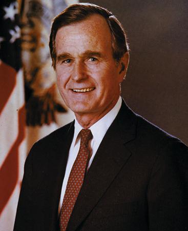 Джордж Буш — старший во время президентства