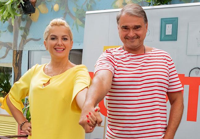С Марией Порошиной в сериале «Родители»