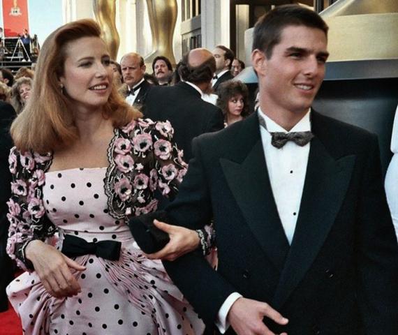 С первой женой Мими Роджерс
