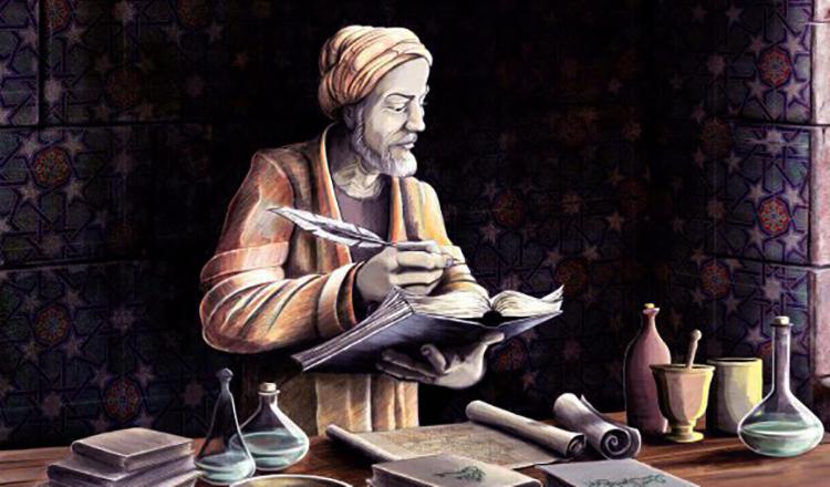 Абу Ибн Сина за работой