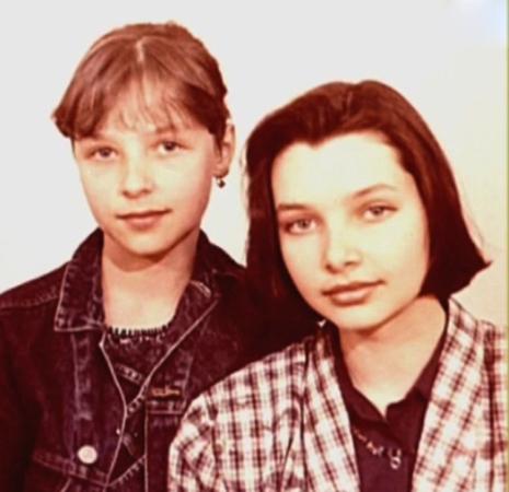 С сестрой в юности