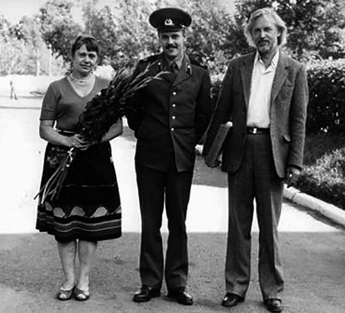С женой Светланой и сыном Вадимом