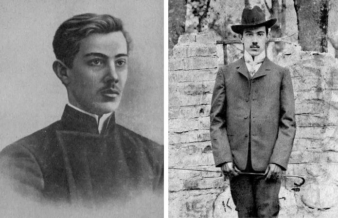 Александр Беляев в юности и молодости